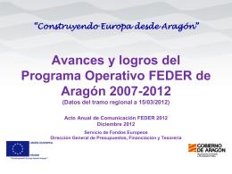 presentación gobierno de aragón. - Dirección General de Fondos