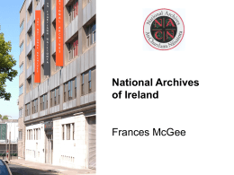 Frances Mc Gee, National Archives of Ireland