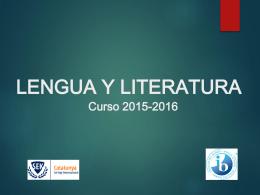 Presentación Lengua y literatura 2015-2016