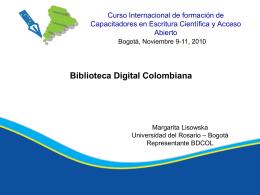 Biblioteca Digital Colombiana, Margarita Lisowska.