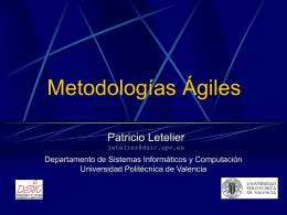 Seminario Metodologías Ágiles y XP, Tema 2