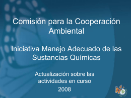 Commission for Environmental Cooperation Sound Management of