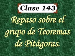Clase 143: Repaso sobre El Teorema de Pitágoras