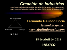 documento en PowerPoint - Fernando Galindo Soria