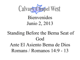 Romanos 14:9 - Calvary Chapel West