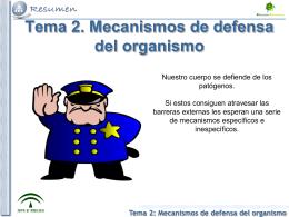 Tema 2: Mecanismos de defensa del organismo