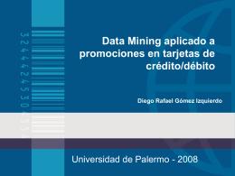 Data Mining aplicado a promociones en tarjetas de crédito/débito