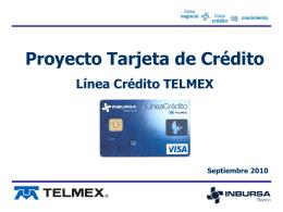 Tarjeta Linea Credito Telmex OK