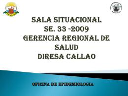 SE. 33-09 - Diresa Callao