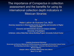 The importance of Conspectus in collection