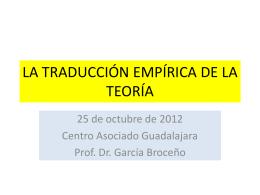 la traducción empírica de la teoría