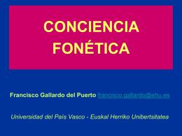 conciencia fonética - Centro de Profesores de Cuenca