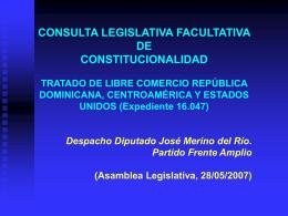 Consulta de constitucionalidad sobre el TLC