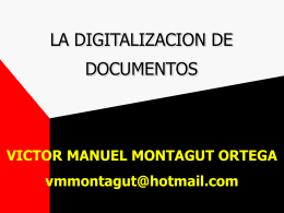 La Digitalización de Documentos