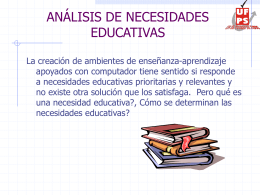 Presentación 6 - Análisis de necesidades Educativas