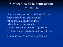 8.Mecánica de la contracción muscular
