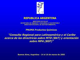 Present Dioxinas Arg. - Instituto Nacional de Tecnología Industrial