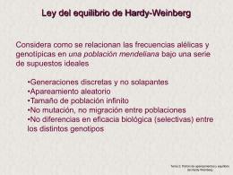 Tema 2: Patrón de apareamientos y equilibrio Hardy