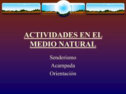 UD ACTIVIDADES EN EL MEDIO NATURAL