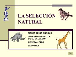 LA SELECCIÓN NATURAL - EPET Nro. 3