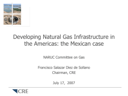 Developing Natural Gas Infrastructure in the Americas
