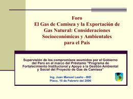 Foro El Gas de Camisea y la Exportación de Gas Natural