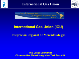 Sin título de diapositiva - Igu INTERNATIONAL GAS UNION UNION