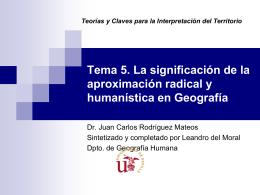 La Geografía Humanística (PP)