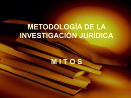 Mitos en la Investigacion
