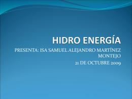 HIDRO ENERGÍA