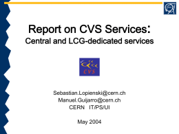 Report on CVS services