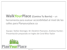 WalkYourPlace (Camina Tu Barrio)