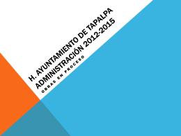 OBRAS EN PROCESO - administración 2012-2015