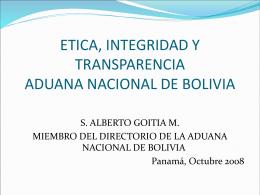 etica, integridad y transparencia en las aduanas
