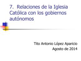 iglesia catolica y gobiernos autonomos en bolivia