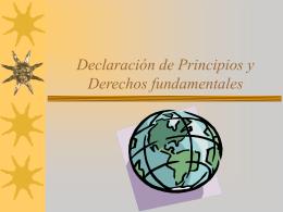 Declaración de Principios y Derechos fundamentales