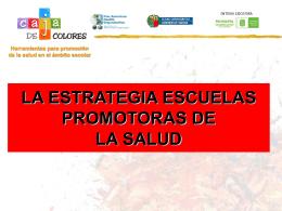 Estrategia Escuelas promotoras de la salud