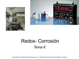 Tema 5b Redox Corrosion - Electromagnetismo