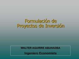 formulación de proyectos - Planeamiento & Gestión SAC