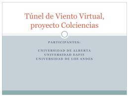 Túnel de Viento Virtual, proyecto Colciencias