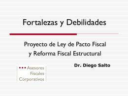 Proyecto de Ley de Pacto Fiscal y reforma Fiscal Estructural