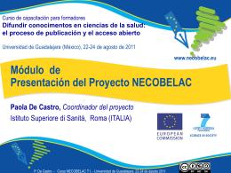 Paola De Castro: Presentación del Proyecto NECOBELAC