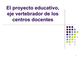 El proyecto educativo, eje vertebrador de la organización