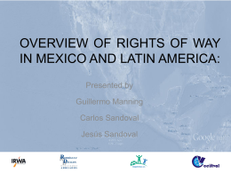 overview of rights of way in mexico and latin america