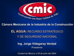 EL AGUA - Cámara Mexicana de la Industria de la Construcción