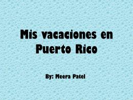 Mi vacaciones en Puerto Rico