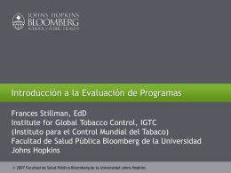 Evaluación - Global Tobacco Control
