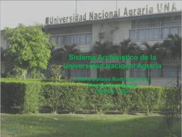 El Diagnóstico Archivístico en la Universidad Nacional Agraria.