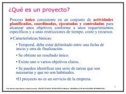 Clase Unidad I CONCEPTOS Y FUNDAMENTOS INVOLUCRADOS