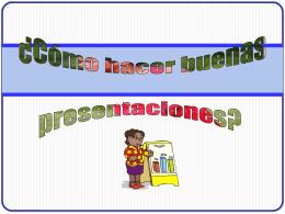 Presentacion sobre como realizar una - TecnologiasInfo10-4